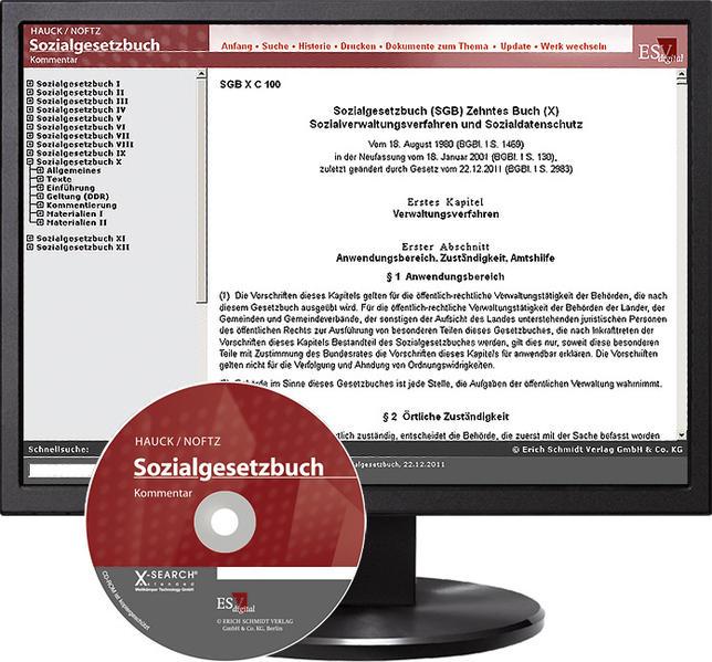 Sozialgesetzbuch (SGB) X: Verwaltungsverfahren, Schutz der Sozialdaten, Zusammenarbeit der Leistungsträger und ihre Beziehungen zu Dritten - bei Kombibezug Print und CD-ROM - Coverbild