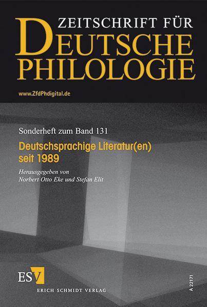 Deutschsprachige Literatur(en) seit 1989 - Coverbild