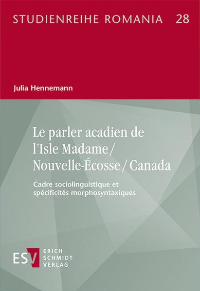 Le parler acadien de l'Isle Madame / Nouvelle-Écosse / Canada - Coverbild