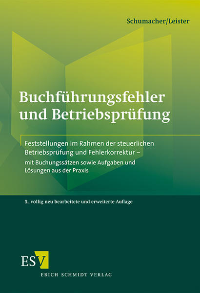 Buchführungsfehler und Betriebsprüfung - Coverbild