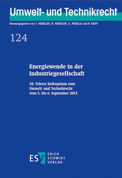 Energiewende in der Industriegesellschaft - Coverbild