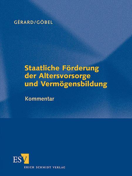 Staatliche Förderung der Altersvorsorge und Vermögensbildung - Einzelbezug - Coverbild