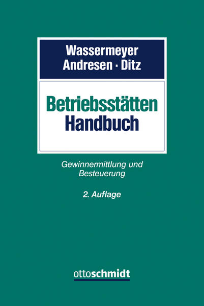 Betriebsstätten-Handbuch - Coverbild