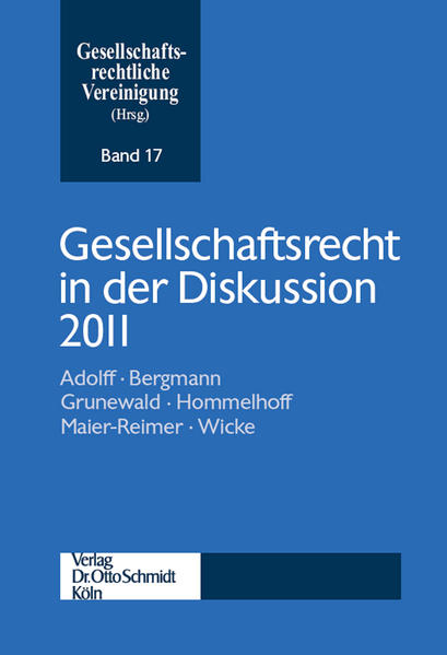 Gesellschaftsrecht in der Diskussion 2011 - Coverbild