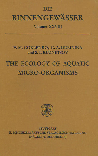 The ecology of aquatic micro-organisms - Coverbild