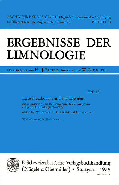 Lake Metabolism and Management - Coverbild