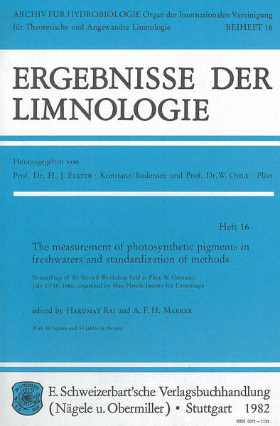 The measurement of photosynthetic pigments in freshwaters and standardization of methods - Coverbild