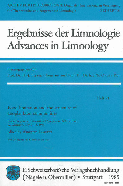 Food limitation and the structure of zooplankton communities - Coverbild