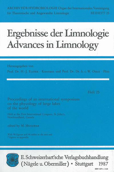 International Symposium on the phycology of large lakes of the world - Coverbild