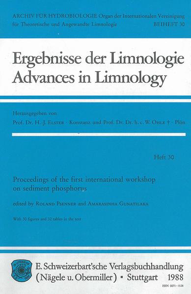 International Workshop on Sediment phosphorus (1.), Wien, März 1986 - Coverbild