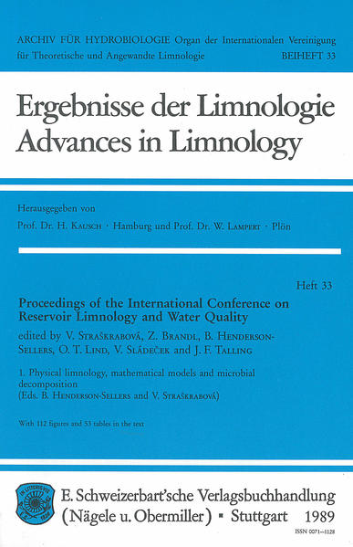 International Conference on Reservoir Limnology and Water Quality. Proceedings / Physical limnology, mathematical models and microbial decomposition - Coverbild