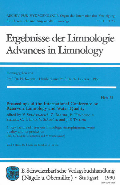 International Conference on Reservoir Limnology and Water Quality. Proceedings / Key factors of reservoir limnology, eutrophication, water quality and its prediction - Coverbild
