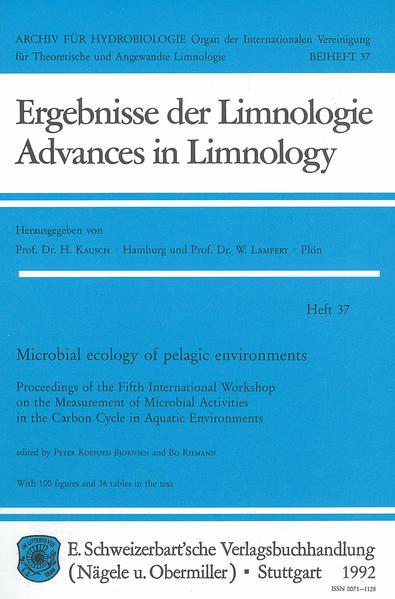 Microbial ecology of pelagic environments - Coverbild