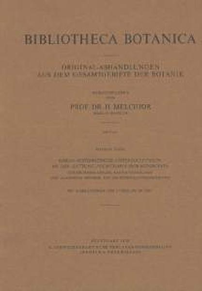 Karyo-systematische Untersuchungen an der Gattung Pulmonaria (Boragina ceae) - Coverbild