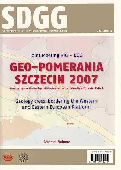 Geo-Pomerania Szczecin 2007 -  Joint Meeting PTG-DGG - Coverbild