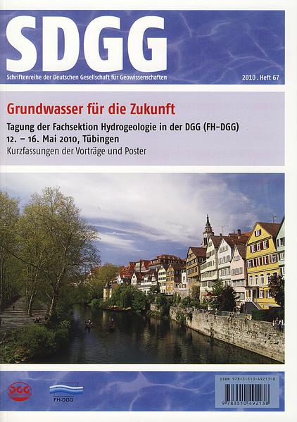 Grundwasser für die Zukunft - Tagung der Fachsektion Hydrogeologie              in der DGG (FH-DGG) 12.- 16. Mai 2010, Tübingen - Coverbild