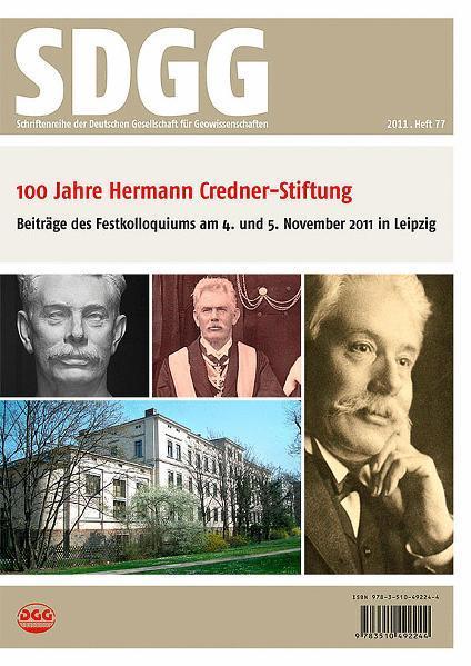 100 Jahre Hermann Credner-Stiftung der Deutschen Gesellschaft für Geowissenschaften - Coverbild