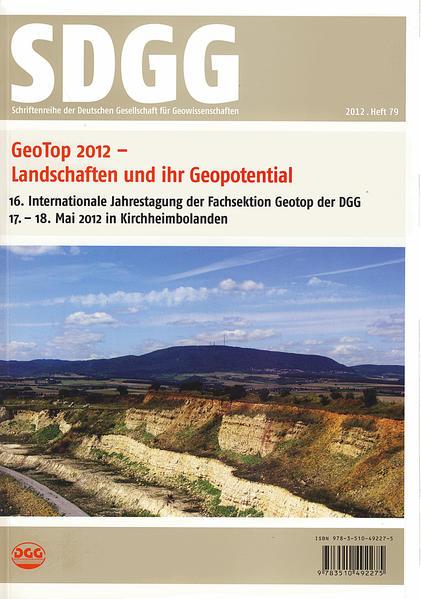 GeoTop 2012                       Landschaften und ihr Geopotential - Coverbild