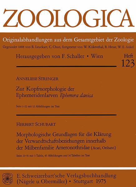 Zur Kopfmorphologie der Ephemeridenlarven Ephemera danica. - Schubart, Herbert: Morphologische Grundlagen für die Klärung der Verwandtschaftsbeziehungen innerhalb der Milbenfamilie Ameronothridae (Acar, Oribatei) - Coverbild
