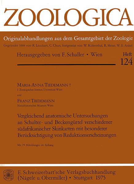 Vergleichend anatomische Untersuchungen an Schulter- und Beckengürtel verschiedener südafrikanischer Skinkarten - Coverbild