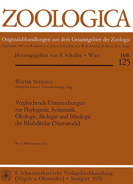 Vergleichende Untersuchungen zur Phylogenie, Systematik, Ökologie, Biologie und Ethologie der Rhabditidae (Nematoda) - Coverbild