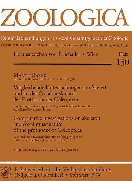 Vergleichende Untersuchungen am Skelett und an der Coxalmuskulatur des Prothorax der Coleoptera - Coverbild