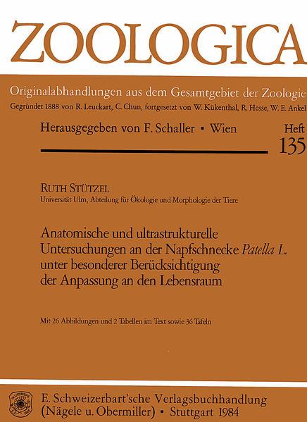 Anatomische und Ultrastrukturelle Untersuchungen an der Napfschnecke Patella L. unter besonderer Berücksichtigung der Anpassung an den Lebensraum - Coverbild