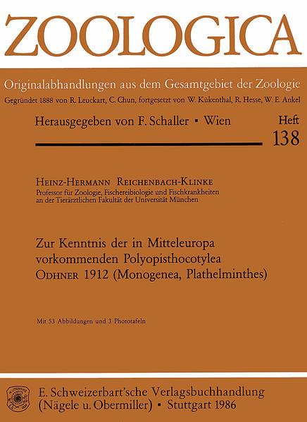 Zur Kenntnis der in Mitteleuropa vorkommenden Polyopisthocotylea Odhner 1912 (Monogenea, Plathelminthes) - Coverbild