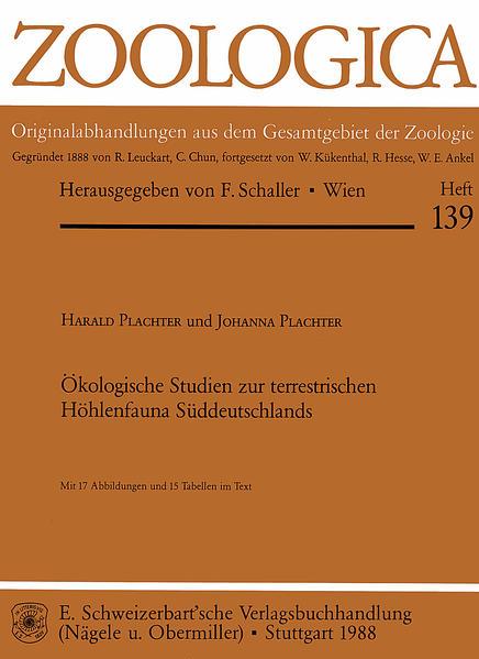 Ökologische Studien zur terrestrischen Höhlenfauna Süddeutschlands - Coverbild