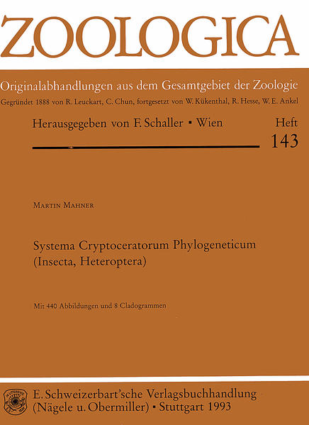 Systema ryptoceratorum Phylogeneticum (Insecta, Heteroptera) - Coverbild