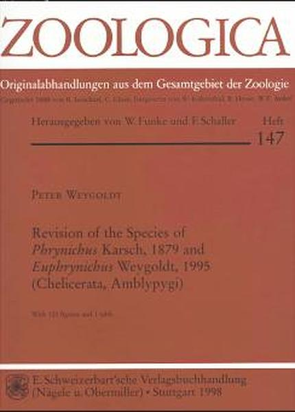 Revision of the Species of Phrynichus Karsch, 1879 and Euphrynichus Weygoldt, 1995 (Chelicerata, Amblypygi) - Coverbild