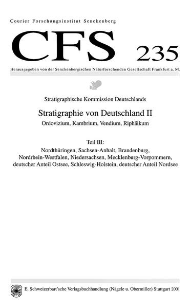Stratigraphie von Deutschland II: Ordovizium, Kambrium, Vendium, Riphäikum - Coverbild