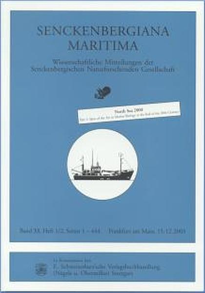 Senckenbergiana Maritima. Wissenschaftliche Mitteilungen der Senckenbergischen... / North Sea 2000 - Coverbild