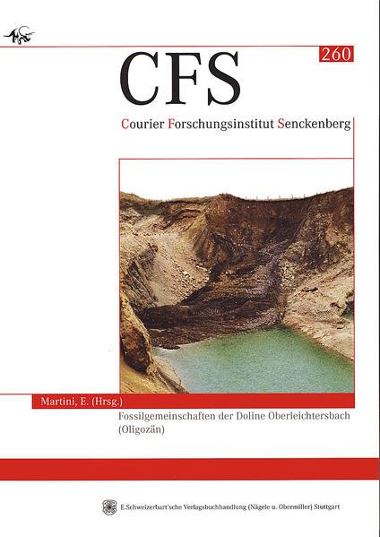 Fossilgemeinschaften der Doline Oberleichtersbach (Oligozän) - Coverbild