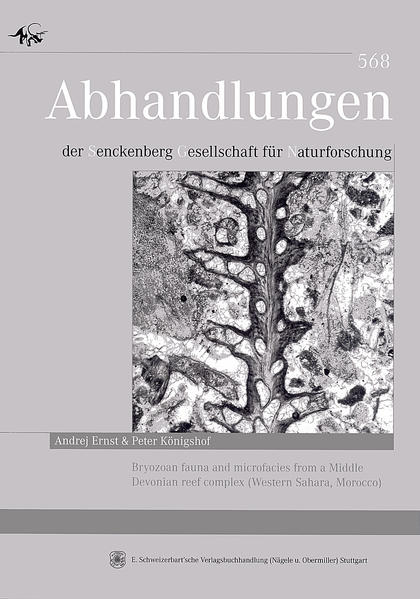 Bryozoan fauna and microfacies from a Middle Devonian reef complex (Western Sahara, Morocco) - Coverbild