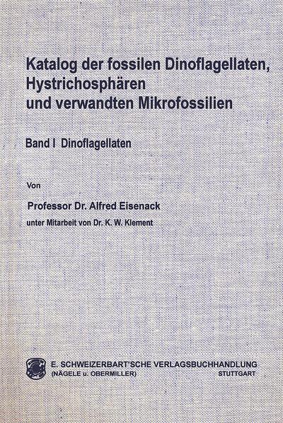 Katalog der fossilen Dinoflagellaten, Hystrichosphären und verwandten Mikrofossilien / Dinoflagellaten - Coverbild