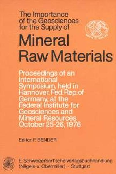 The Importance of the Geosciences for the Supply of Mineral Raw Materials - Coverbild