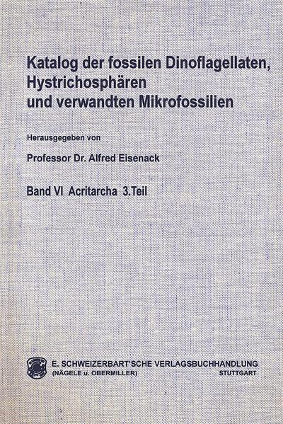 Katalog der fossilen Dinoflagellaten, Hystrichosphären und verwandten Mikrofossilien - Coverbild