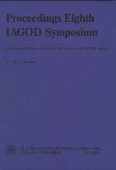 International Association on the Genesis of Ore Deposits - Proceedings of the Eighth Quadrennial IAGOD-Symposium held in Ottawa, Canada, August 12-18, 1990 - Coverbild