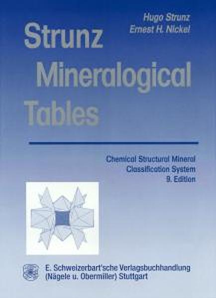 Mineralogical Tables - Coverbild