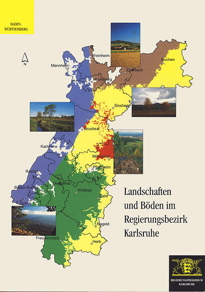Landschaften und Böden im Regierungsbezirk Karlsruhe - Coverbild