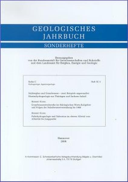 Salzbergbau und Grundwasser - zwei Beispiele angewandter Montanhydrogeologie aus Thüringen und Sachsen-Anhalt - Coverbild