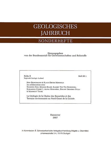 La Geologie de la Chaine des Bassarides et des Terrains  environnants au Nord-Ouest de la Guinee - Coverbild