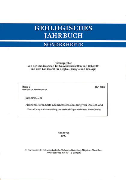 Flächendifferenzierte Grundwasserneubildung von Deutschland - Coverbild