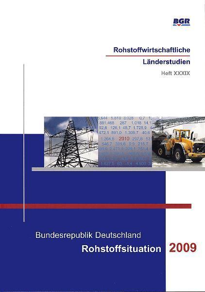 Bundesrepublik Deutschland - Rohstoffsituation 2009 - Coverbild