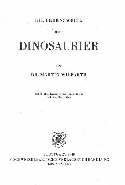 Die Lebensweise der Dinosaurier - Coverbild