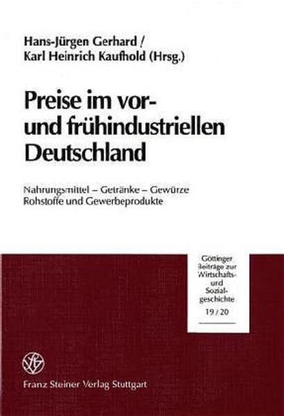 Preise im vor- und frühindustriellen Deutschland - Coverbild