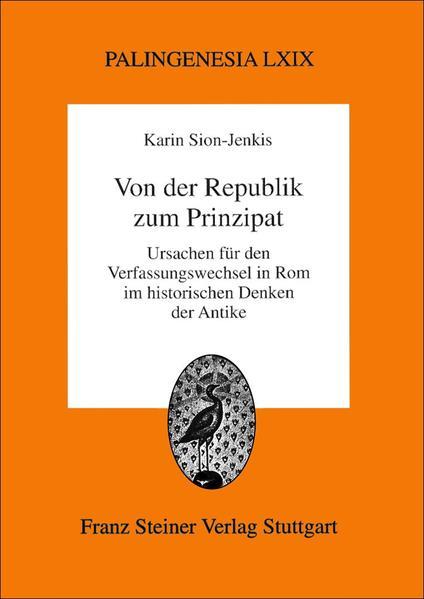 Von der Republik zum Prinzipat - Coverbild