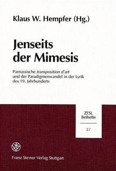 Jenseits der Mimesis - Coverbild