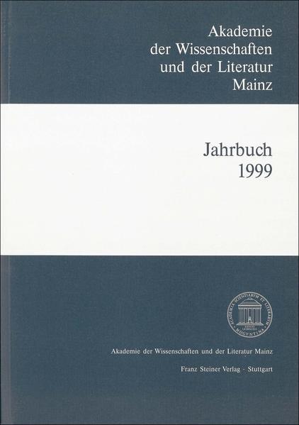 Akademie der Wissenschaften und der Literatur Mainz – Jahrbuch 50 (1999) - Coverbild